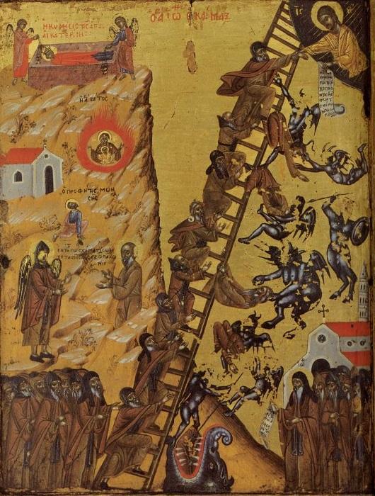 Лествица райская. Икона, монастырь Святой Екатерины