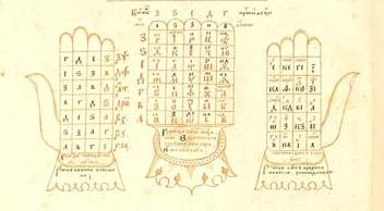 Рука Дамаскина из рукописи Великий миротворный круг