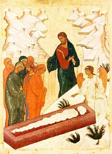 Жены мироносицы у Гроба Господня. Новгород. Ок. 1475 г.