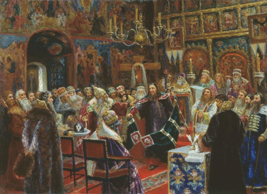 С.Д. Милорадович. «Суд над патриархом Никоном». 1885 год