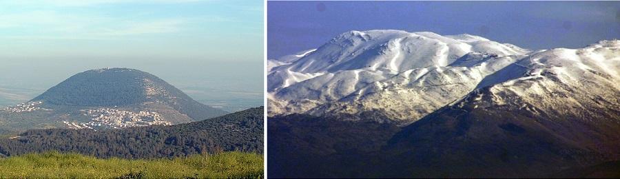 Горы Фавор (слева) и Ермон (справа)