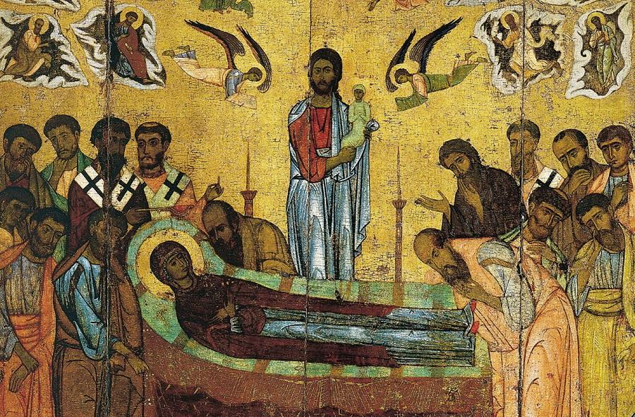 Успение Пресвятой Богородицы. Новгород, XIII век