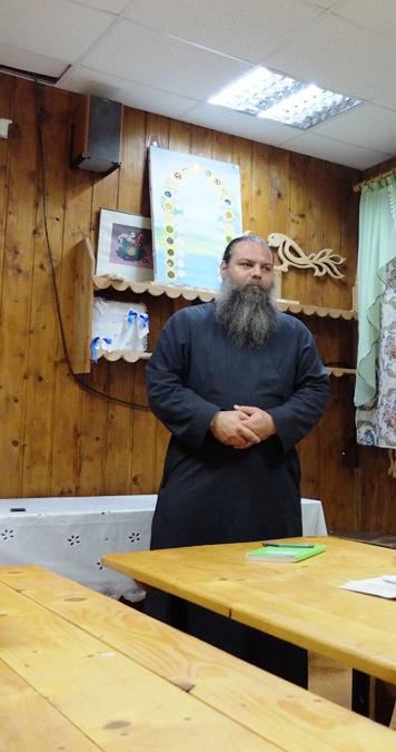 Иерей Михаил Родин на образовательной смене в «Ржевской обители»