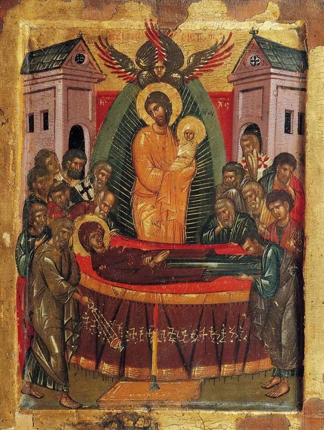 Успение Пресвятой Богородицы. Патмос, монастырь св. Иоанна Богослова. XV век
