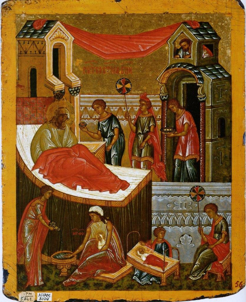 Икона Рождество Богородицы. ХV век