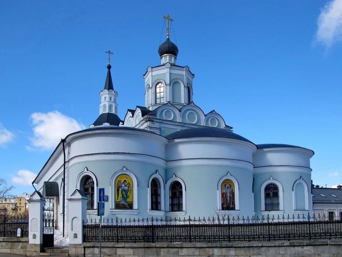 Храм Воздвижения Креста Господня на Чистом Вражке. Москва