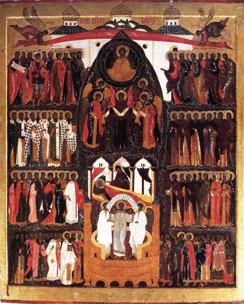 «Покров Богородицы» из Воскресенского Горицкого монастыря. XVI век