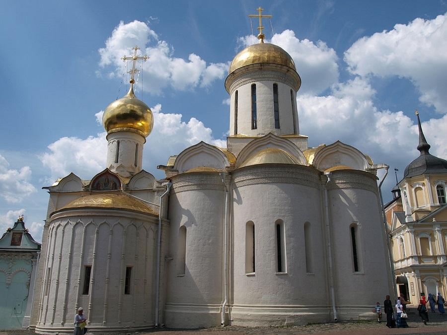 Троицкий собор Троице-Сергиевой лавры. Современная фотография
