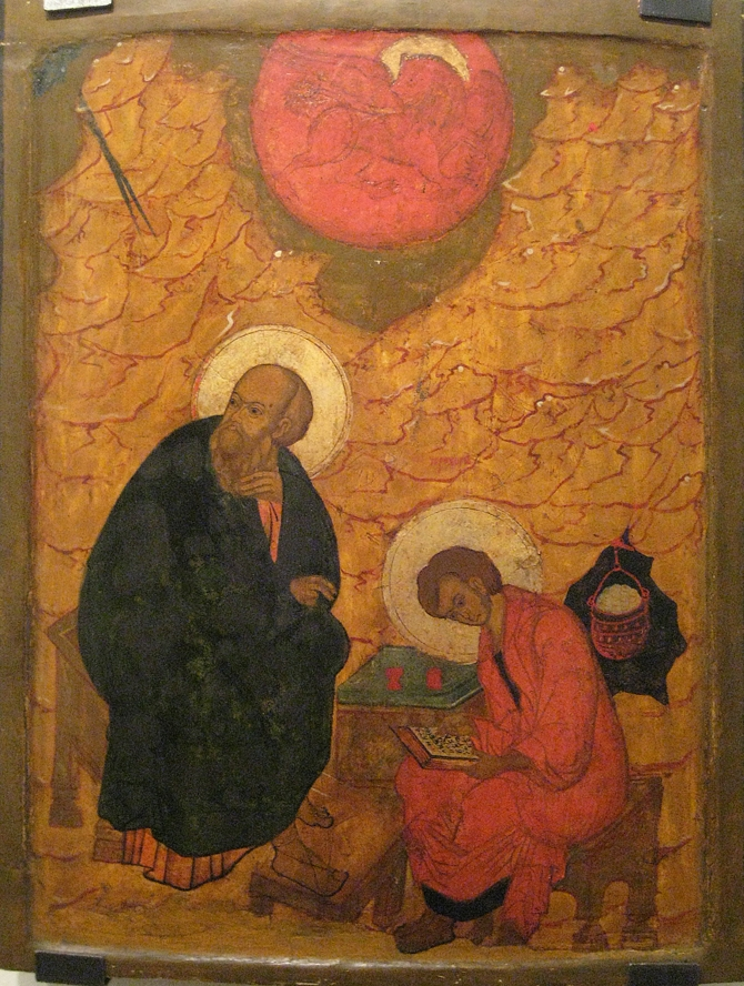 Иоанн Богослов на Патмосе, XVII век, Нижний Новгород