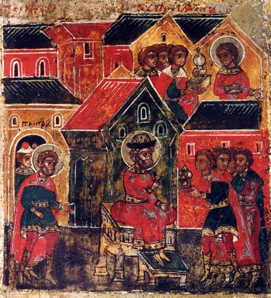 Исцеленный князь Петр посылает Февронии дары