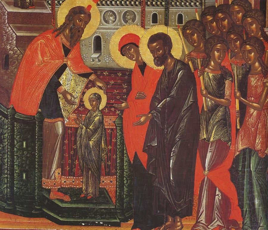 Введение во храм Пресвятой Богородицы; XVI в.; Греция. Афон