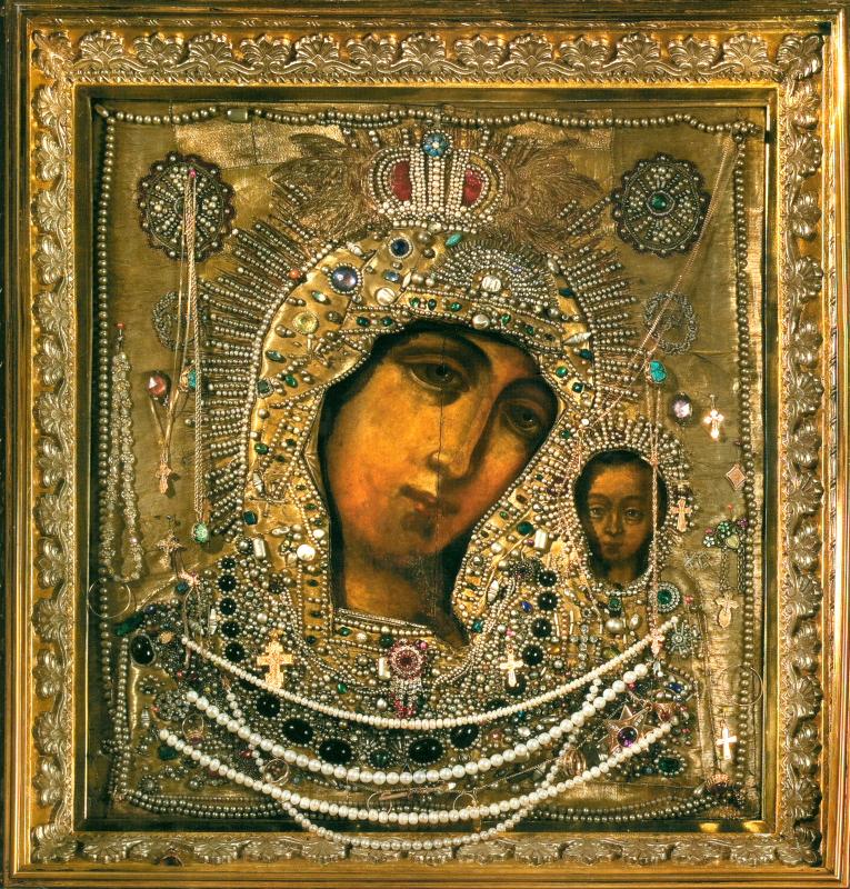 Казанская икона Богородицы. Список из Казанского собора в Санкт-Петербурге
