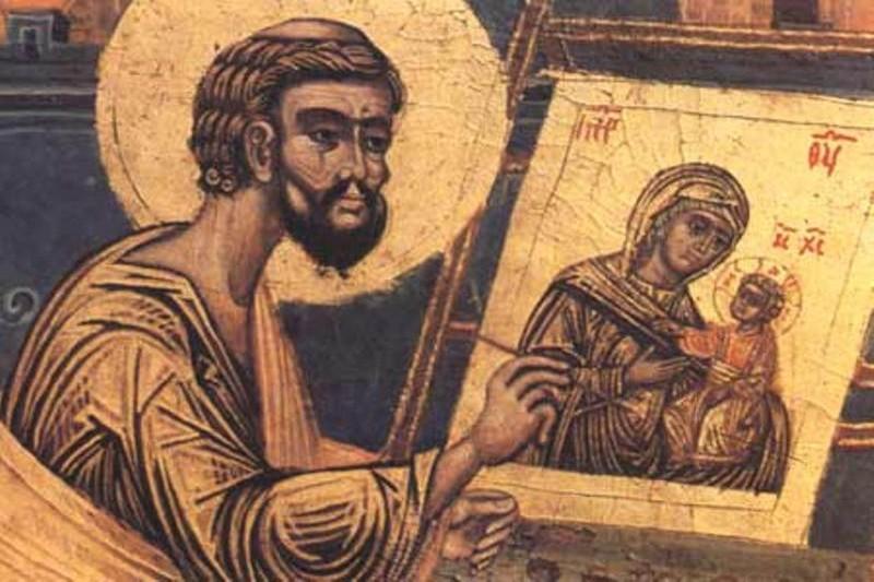 Апостол и евангелист Лука пишет икону Богородицы