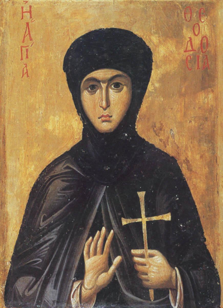 Икона преподобномученицы Феодосии. Византия, XIII в.