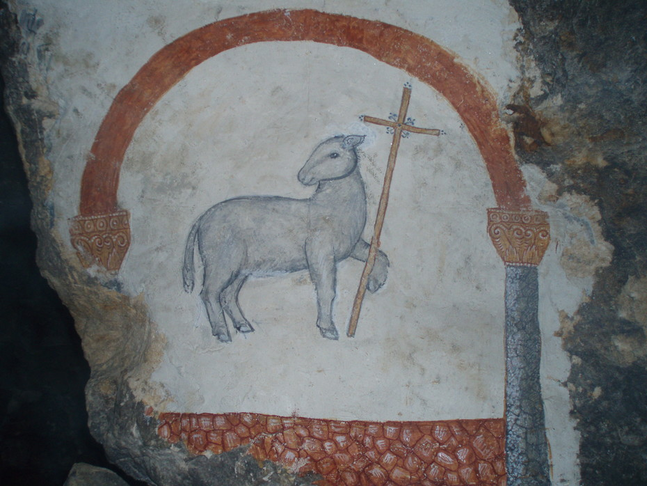 Образ агнца — символическое изображение Исуса Христа, ветхозаветный прообраз Его крестной жертвы