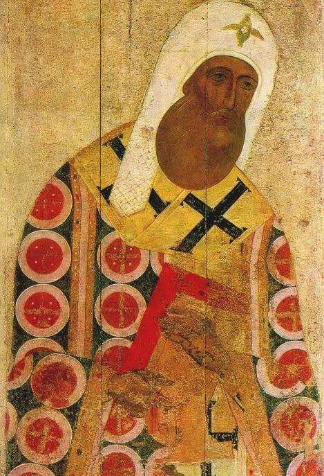 Митрополит Московский Петр. Икона XV века
