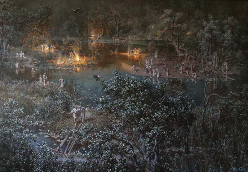 Генрих Семирадский. «Ночь накануне Ивана Купалы», 1880-е