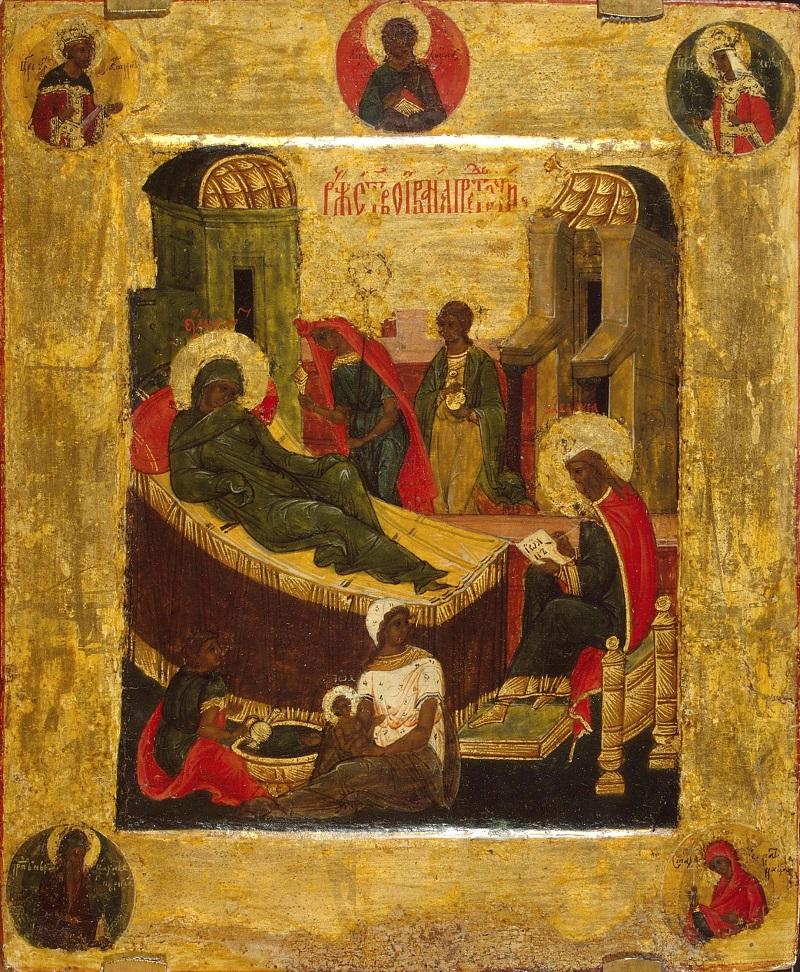 Икона рожества Иоанна Предотечи. 16 век