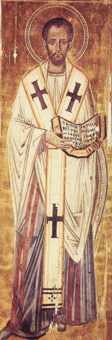 Святитель Иоанн Златоуст. Икона. X век, Византия