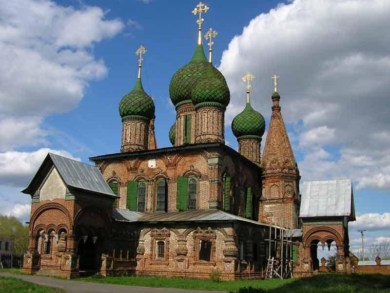 Храм во имя Иоанна Златоуста в Коровниках (г. Ярославль). Годы постройки: 1649-1654