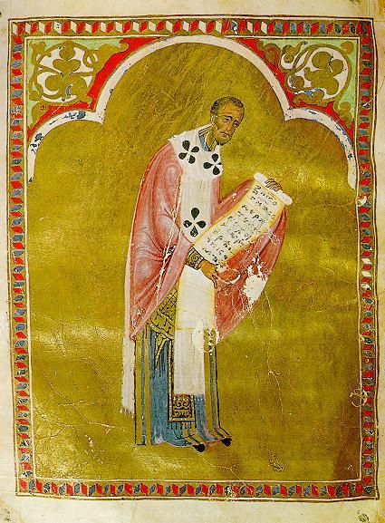 Святитель Иоанн Златоуст. XIII век, миниатюра