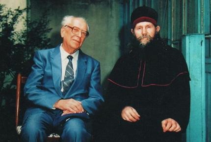 Дмитрий Лихачев и архиепископ РПсЦ Алимпий (Гусев)