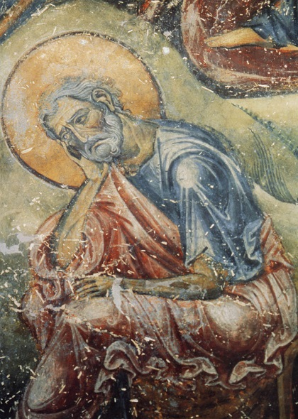 Святой праведный Иосиф. Фрагмент фрески. Византия