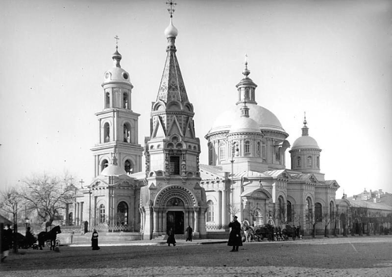 Церковь святителя Василия Великого в Тверской ямской слободе.  Фотография начала XX века