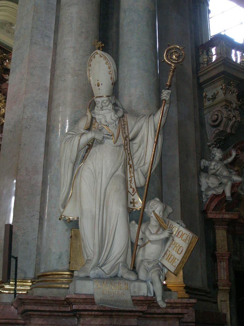 Статуя св. Василия Кесарийского в одном из храмов Праги