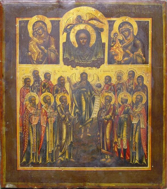 Икона Собор Святого Иоанна Предотечи. Россия, XIX век
