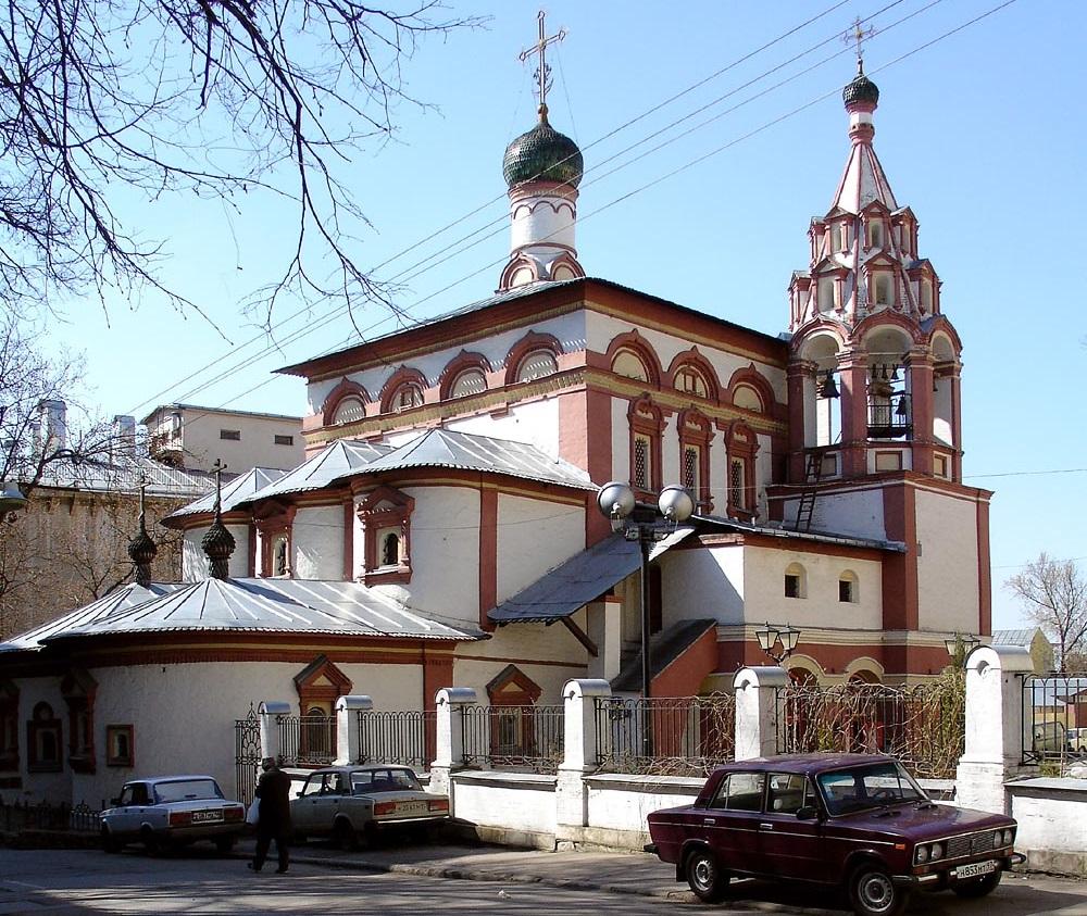 Храм трех святителей на Кулишках в Москве. Современный вид