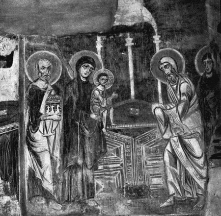 Фреска Сретение. Церковь Спаса на Нередице, 1199 г.