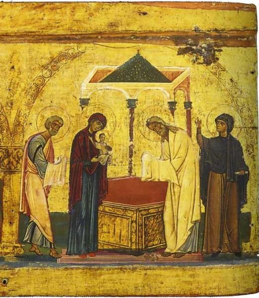 Икона-эпистилий. 2-ая половина XII в. Монастырь св. Екатерины, Синай, Египет. Фрагмент