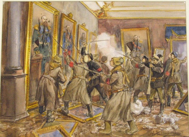 Художник-очевидец И. А. Владимиров. «Взятие Зимнего», 1918 г.