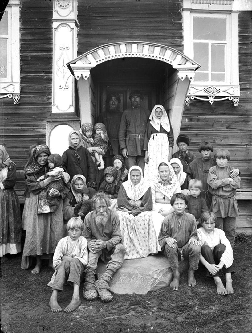 Старообрядцы дер. Кузнецово, Нижегородская губерния. 1897 г.