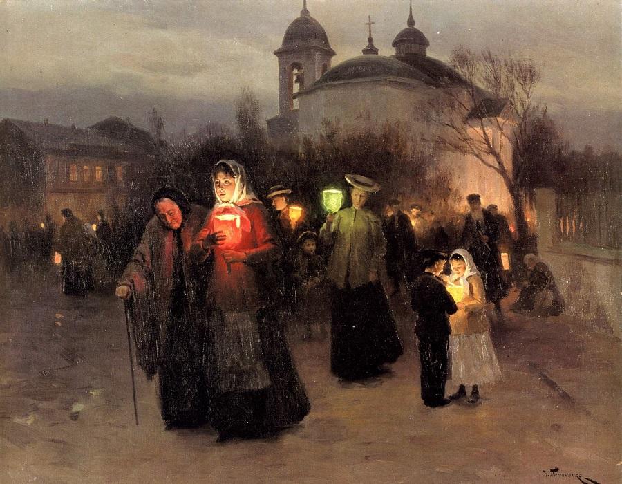 «В Чистый четверг». Николай Пимоненко, 1887 г.