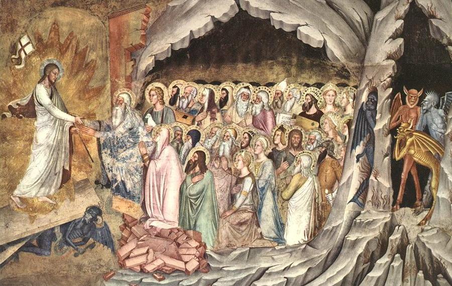 Христос выводит праведников из ада. Фреска церкви Санта-Мария-Новелла, Флоренция, ХIV в.