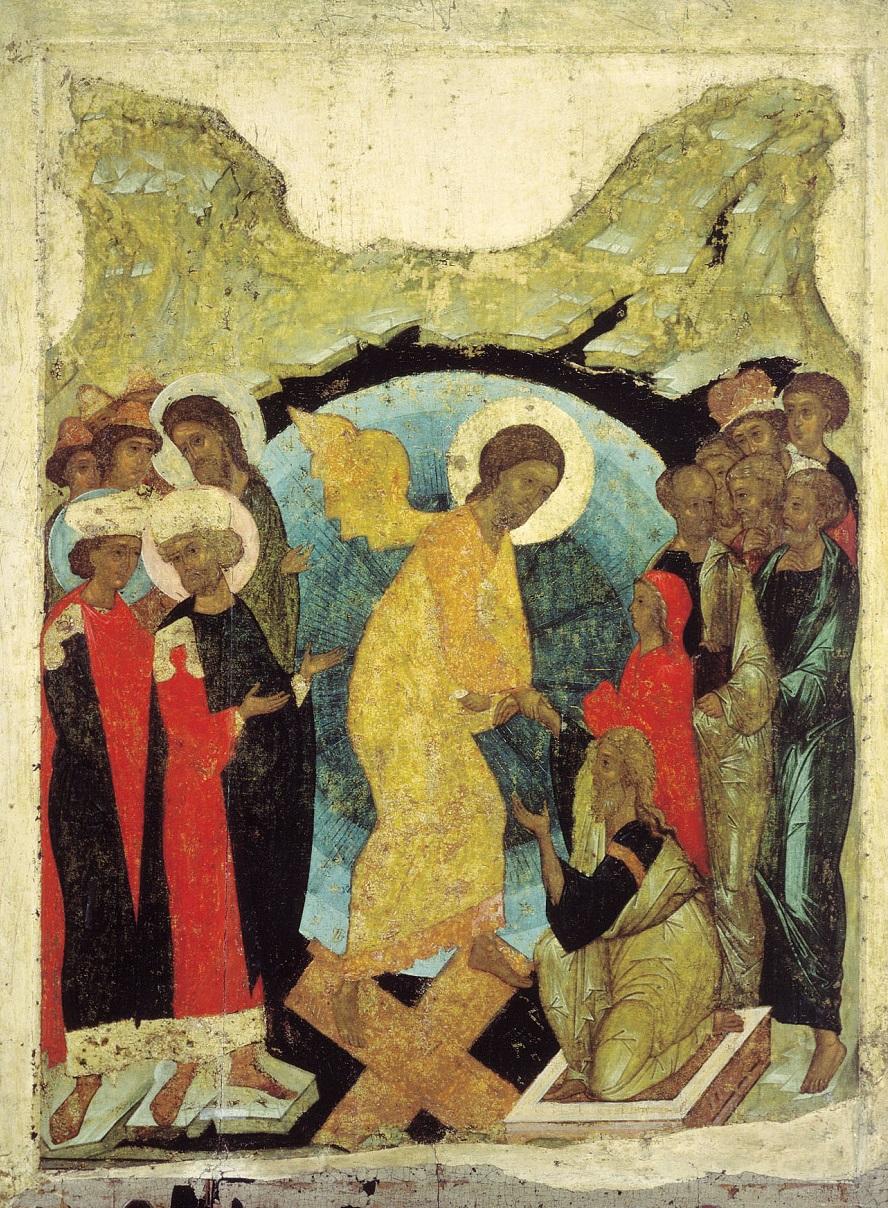 Сошествие во ад. Андрей Рублев, 1408-1410 гг.