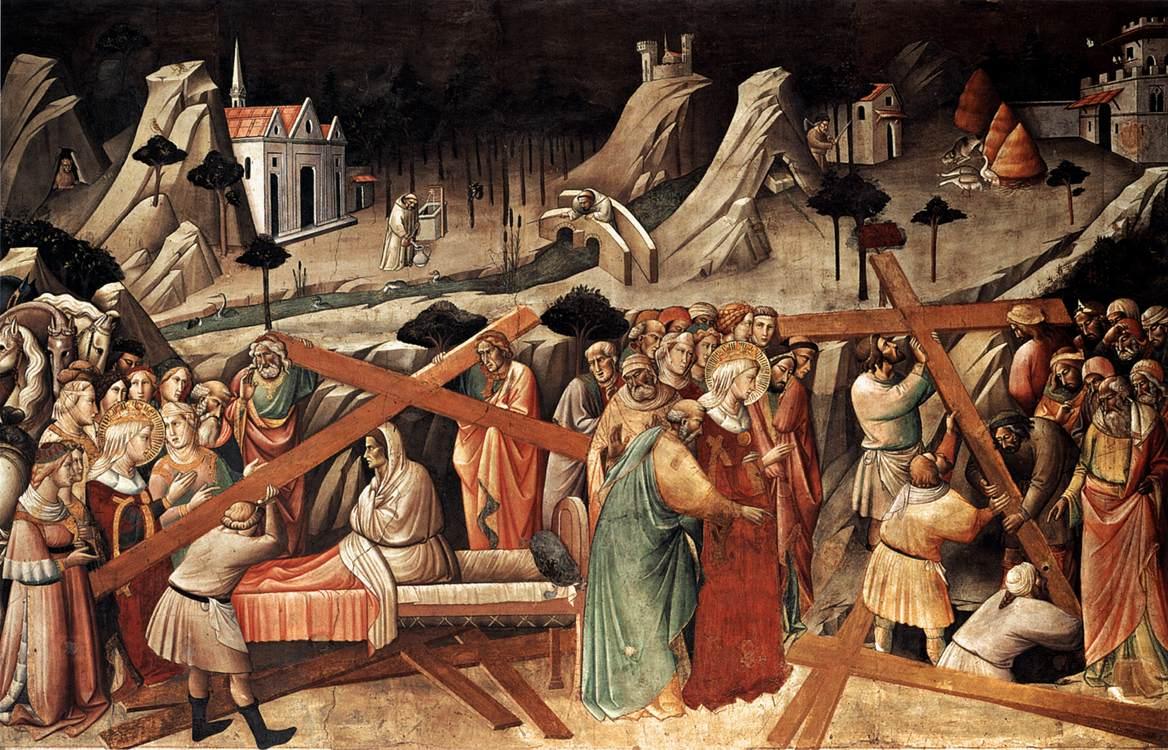 Обретение Животворящего Креста Еленой в Иерусалиме. Аньоло Гадди, 1380 год