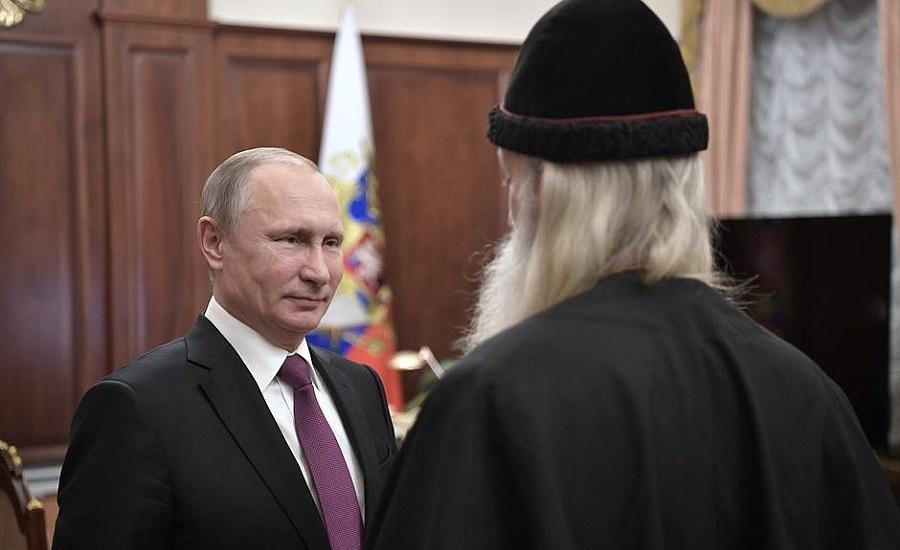 Путин встретился сглавой православных старообрядцев