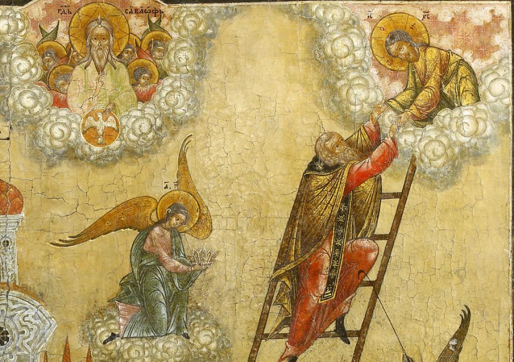Видение преподобного Иоанна Лествичника. Фрагмент иконы