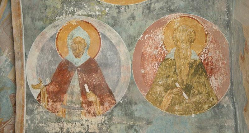 Преподобные Ефрем Сирин и Иоанн Лествичник. Ферапонтов монастырь. Иконописец Дионисий. XV век