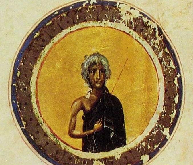 Преподобная Мария. Миниатюра. Византия