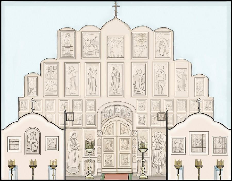 Иконостас старообрядческого храма