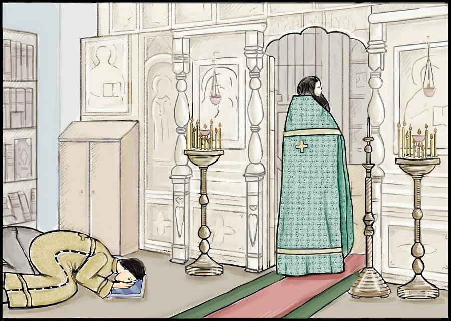 Коленопреклонные молитвы на литургии Преждеосвященных Даров