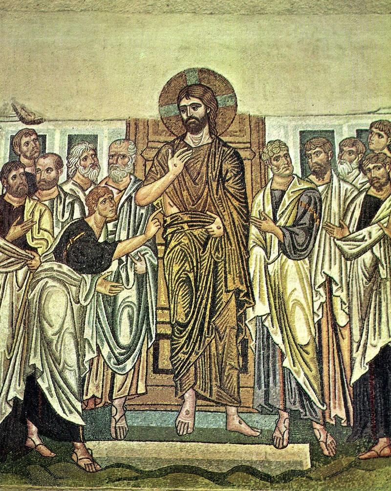 Уверение Фомы. Церковь Успения Богоматери, Дафни (близ Афин), Греция. Вторая половина XI в.