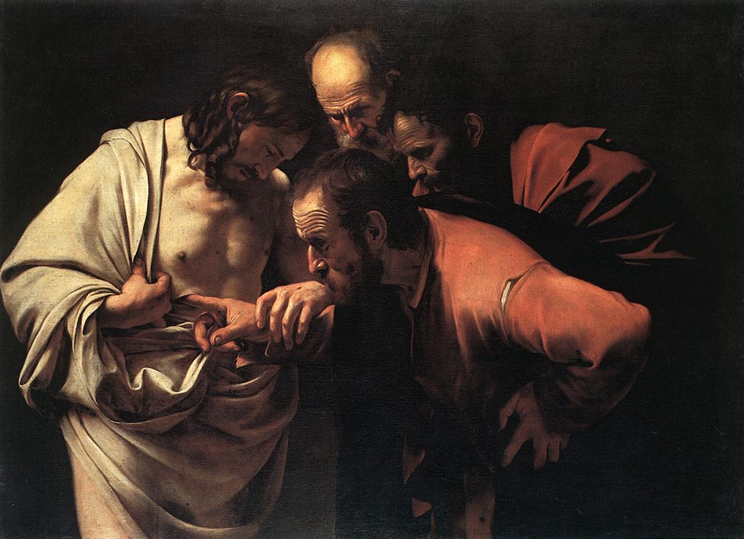 Уверение Фомы. Караваджо. ХVII век