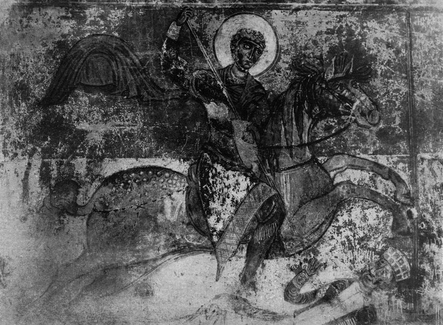Святой Георгий. 1096 г. Церковь во имя Архангелов, Ипрари, Грузия