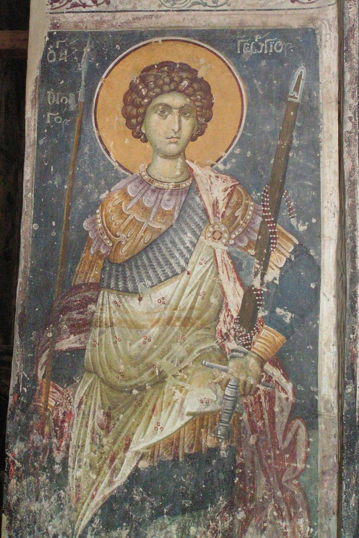 Святой Георгий, 1317–1318 гг. Церковь св. Георгия, Старо-Нагоричино, Македония