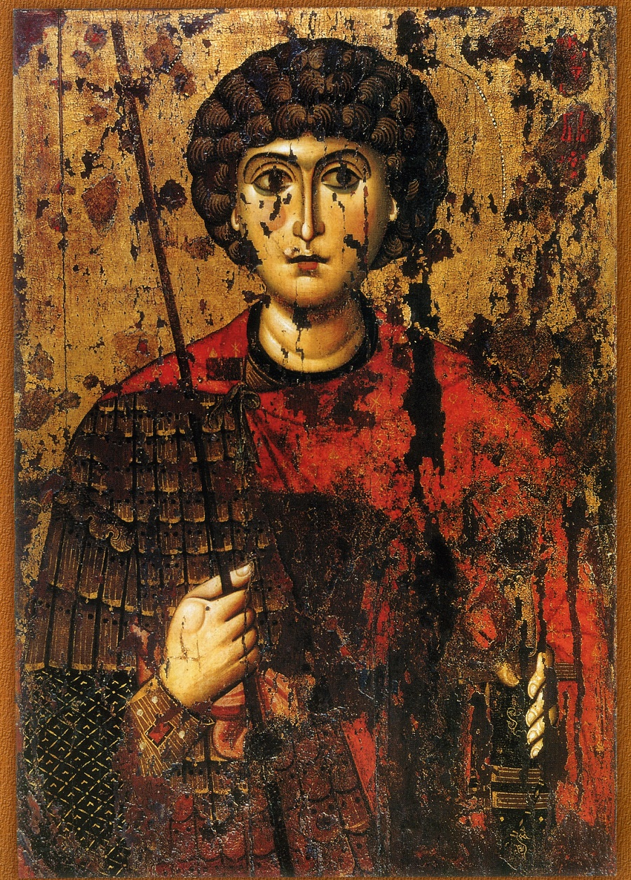 Великомученик Георгий. Русь. Около 1170 г. Успенский собор Московского Кремля